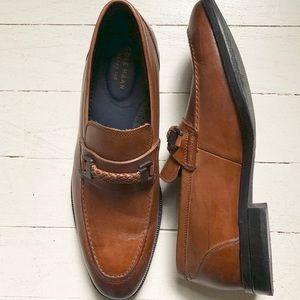 Mens Cole Haan cognac leather dress shoes size 10